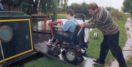 Providing opportunities for persons with disabilities to enjoy narrow boating on the Basingstoke Canal