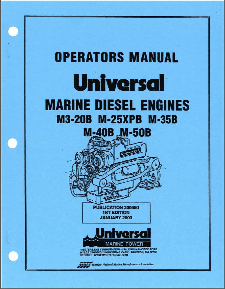 Operator's MUniversal diesel engine M3-20B Service Manual