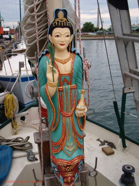 sailboat figurehead Kuan Yin