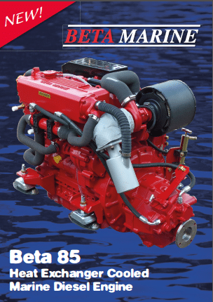 Beta Marine 85 technical sheet