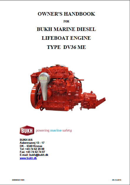 Bukh DV36ME Owners Manual