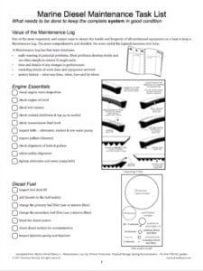 Marine Diesel Maintenance Checklist