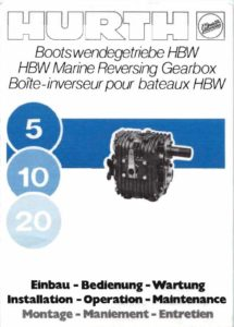 Hurth Gearbox Owners Manual 5,10,20