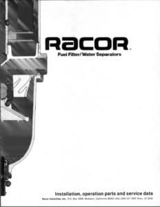 Racor 200FG diesel fuel filter service manual