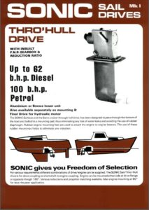 Sillette Sonic Saildrive Mk1 brochure cover