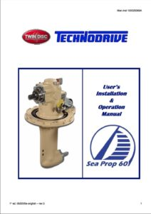 Twin Disc Saildrive Sea Prop 60 Manual cover