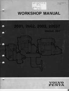 VolvoPenta 2001 Workshop cover