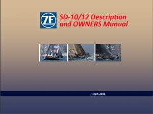 ZF Sail drive SD10-12 Manual cover